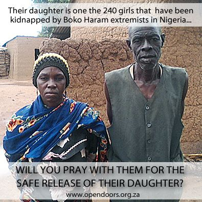 Pray for the parents of the missing Chibok girls!