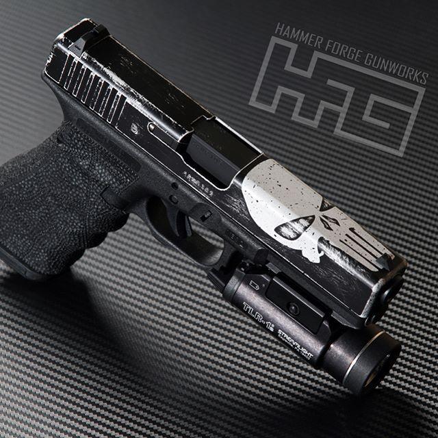 Glock 17 Punisher theme for @mikes.firearms @cerakote @cerakote_militia @glockdaily @glockporn @glockfeed @glockfanatics @glockinc @glock_shooter @glockowners @glock @glock.inc #cerakote #cerakotemagic #cerakotemilitia #cerakotethatshit #cerakotecertified