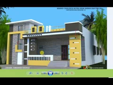 Single Story 4bhk 1 Rk House Plan And Design House Front Design Small House Elevation Design Village House Design