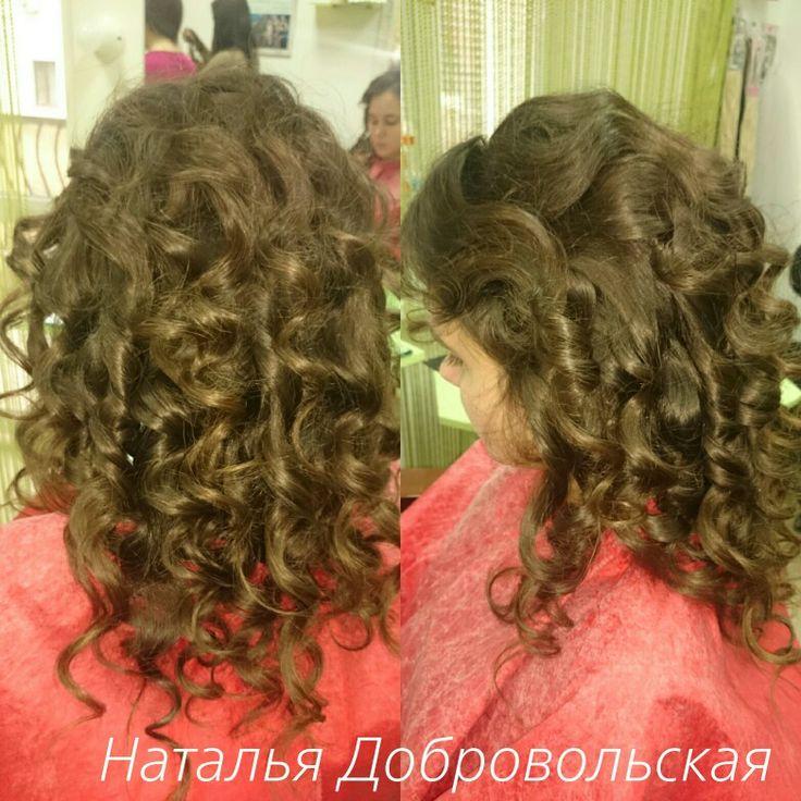 #Накрутка на пушистые #волосы,  когда хочется не подбирать их в #причёску, а оставить #красивые #локоны