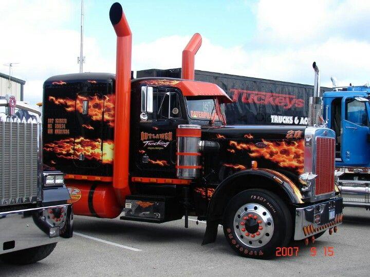 That's one HOT Peterbilt! #ReferATruck  'Get er Loaded' - LGMSports.com