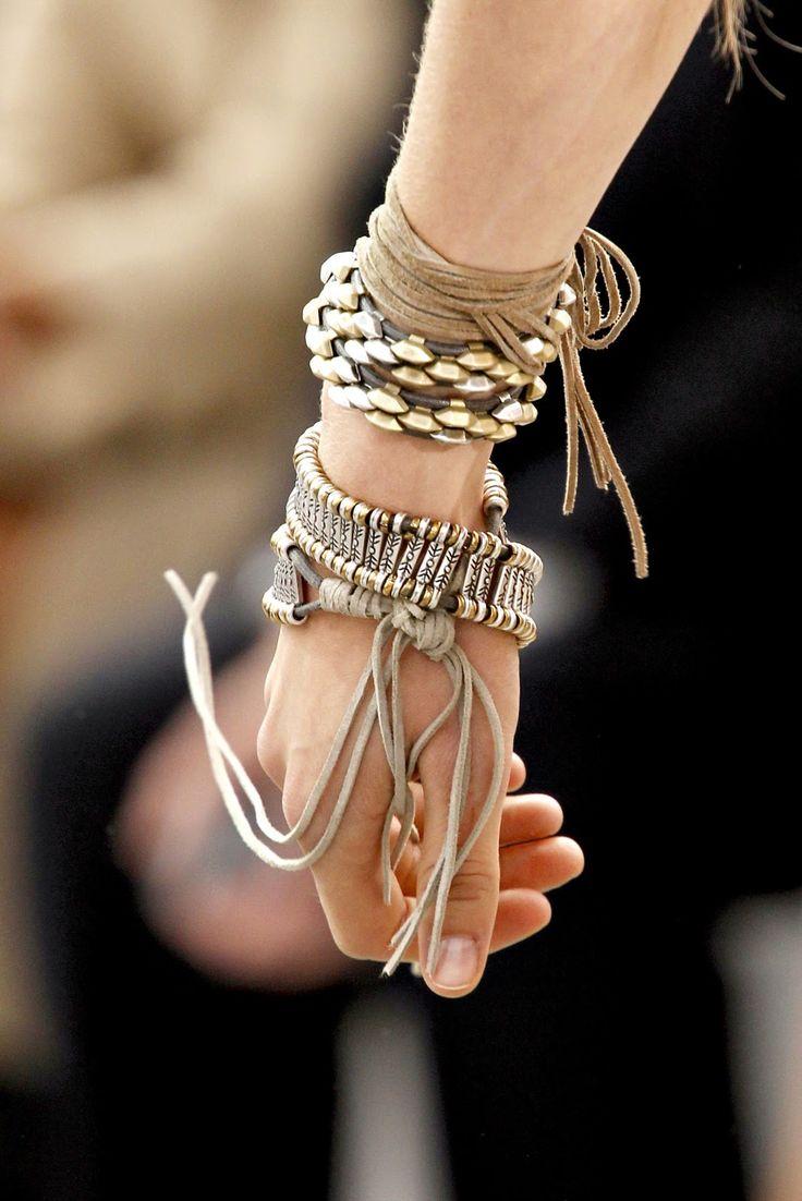 Roberto Cavalli ~ Many Bracelets & Fringe
