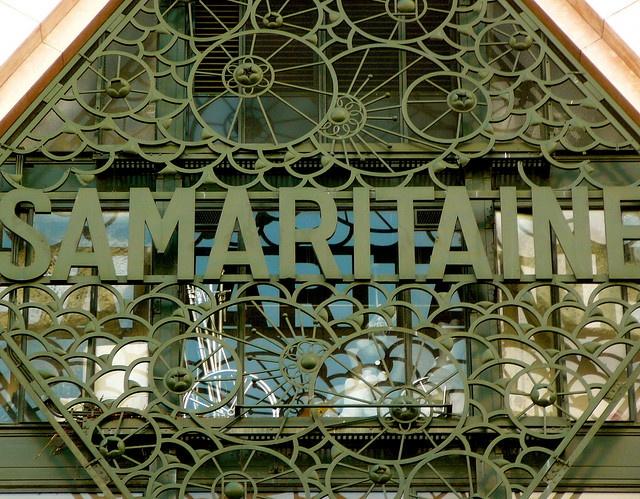 Paris art nouveau building detail
