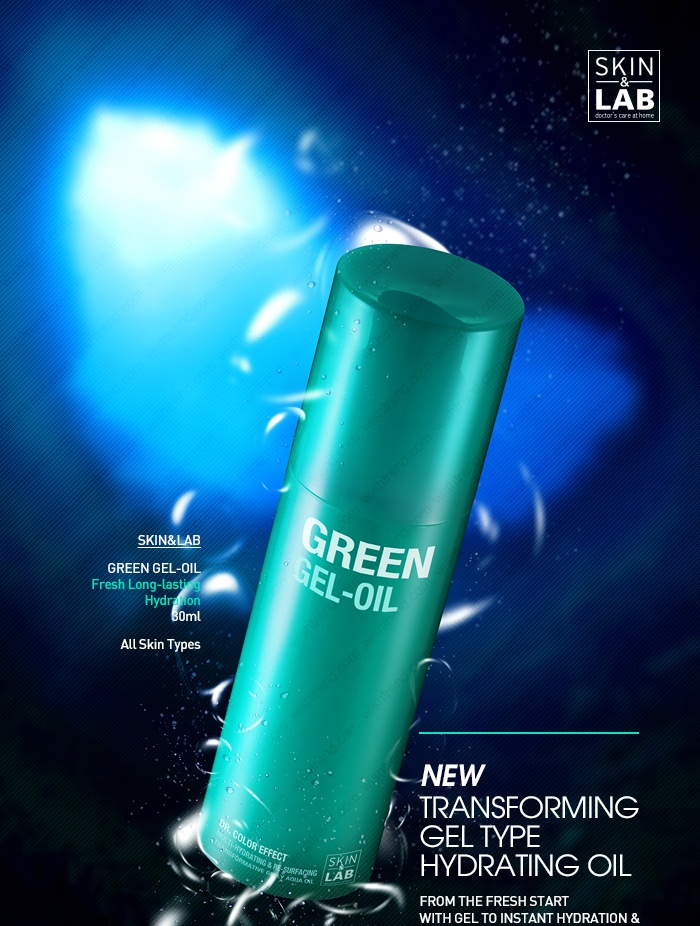 [SKIN & LAB] Dr. Color Effect : Green Gel-Oil  Re-Surface your skin  with deep marine vital energy    Dr. Color Effect Multi-Hydrating & Re-Surfacting  Transformative gelly aqua oil   New transforming gel type hydrating oil  from the fresh start with gel to instant hydration & to skin moisture lock with non-sticky oil finish.  + Soothing + Moisture balancing + Sebum control + Skin protectiong + Completing healthy & firm skin texture by $35.00