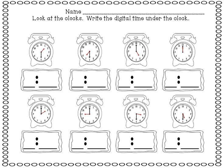 38 best telling time images on Pinterest | The hours, Teaching math ...