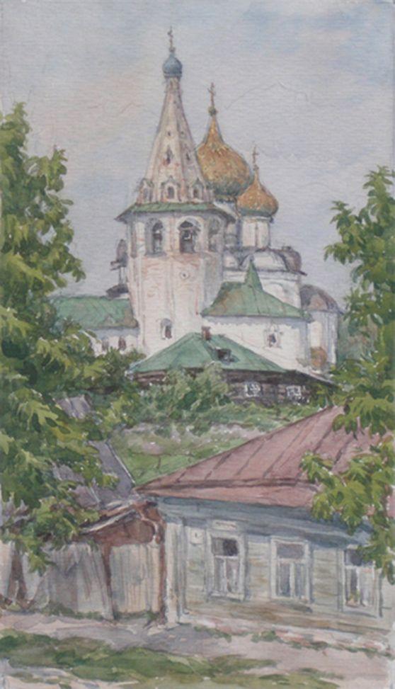 Людмила Томашевская - акварель. Собор. Суздаль.