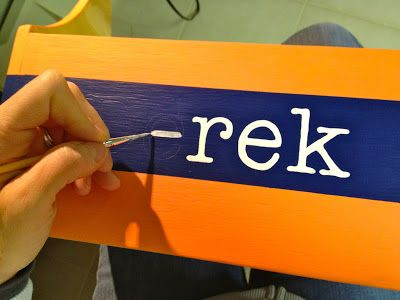 How to paint perfect letters on wood | Crafts | Pinterest