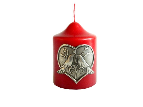 Lovebirds Candle Valentine's Day Wedding Decor by Loutul on Etsy, £12.00