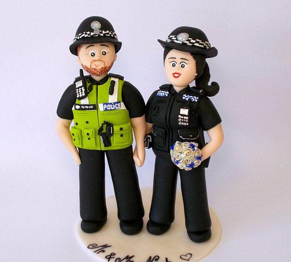 Personalized Handmade Uniform Wedding Cake Topper Figurines