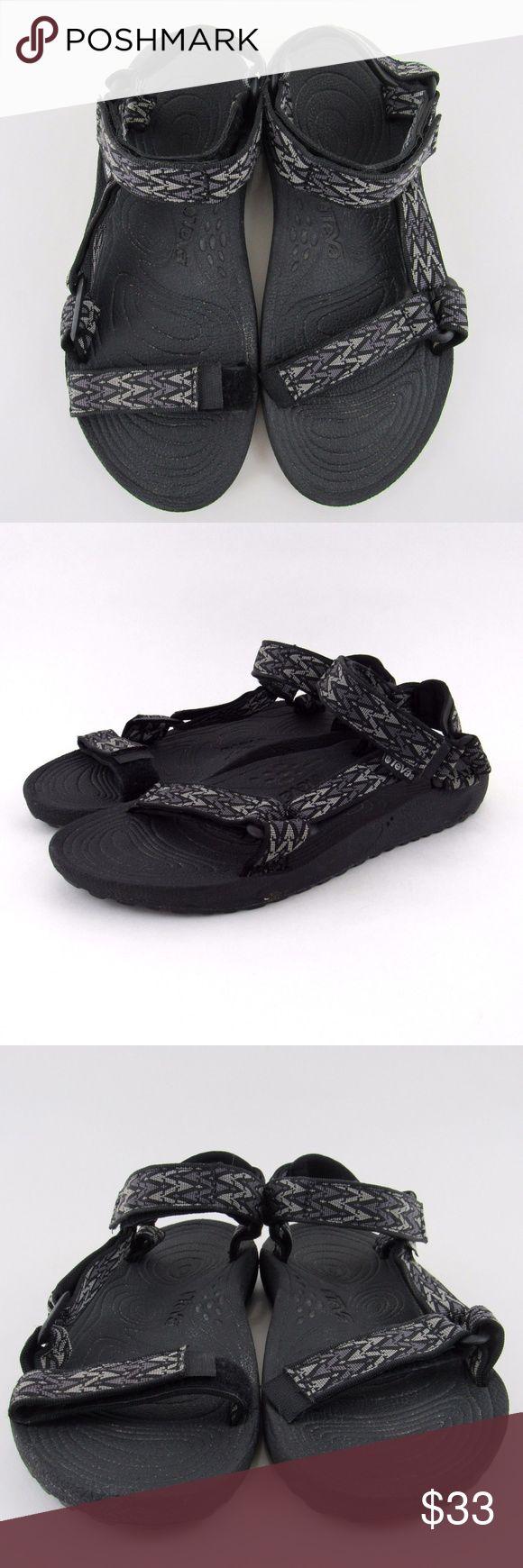 Teva Hurricane Sport Sandals Gray Black 6640 Teva Mens 10 Hurricane Sport Sandals Gray Black 6640 Hiking Rafting Water Shoes Teva Shoes Sandals & Flip-Flops