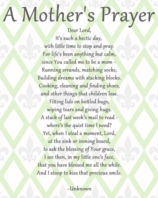 A Mother's Prayer - BabyCenter
