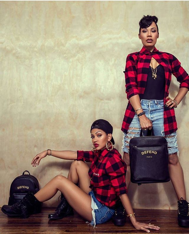 Check out Meagan Good & sister Lamyia Good 's foundation, For the Greater Good, colab with @defendparis #DEFENDGOODGIRL flannel shirts available at defend-paris.com on August 4th! - -  #meagangood #lamyiagood #defendparis #fashion #flannel #plaid #dope #BlackGirlMagic #instafashion  #style