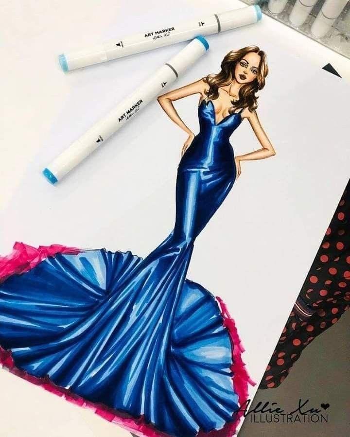 Pin By أوتاكو عربي On تصميم فساتين Fashion Illustration Sketches Dresses Dress Design Sketches Fashion Illustration Poses