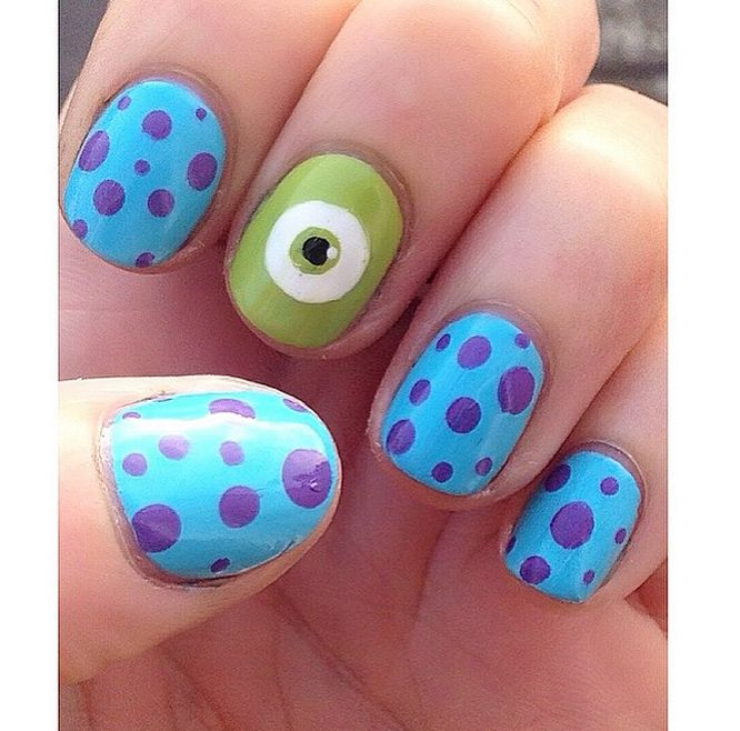 Disney nail art monster inc.