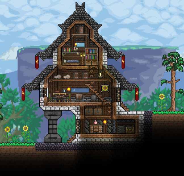 33 best images about terraria on pinterest the internet for Terraria house designs