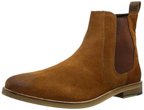 Crevo Men's Denham Chelsea Boot, Chestnut Suede, 10 M US