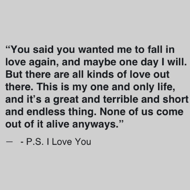 33 Best Images About P.S I Love You ️ On Pinterest