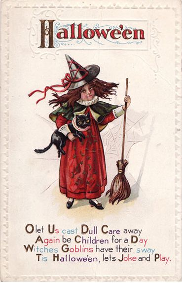vintage halloween card poem pictures photos and images for facebook tumblr - Halloween Card Quotes