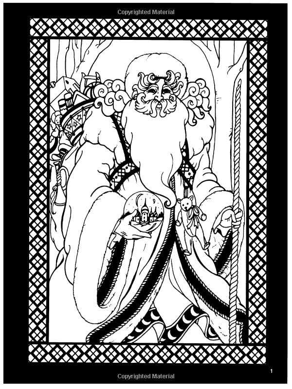 The Spirits Of Christmas Stained Glass Coloring Book Holiday