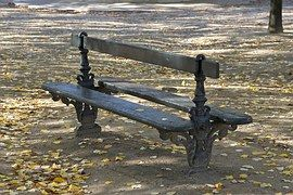 Bench, Luxembourg Garden, Paris, Wooden