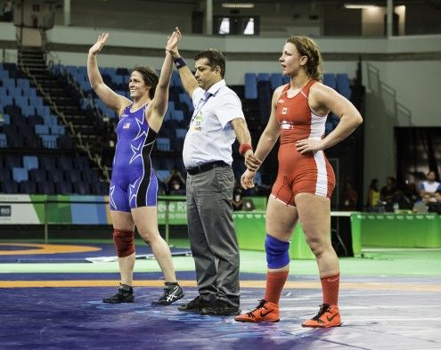 NYAC wrestler, Adeline Gray, wins the 75kg women's freestyle Olympic Test event on January 31st.