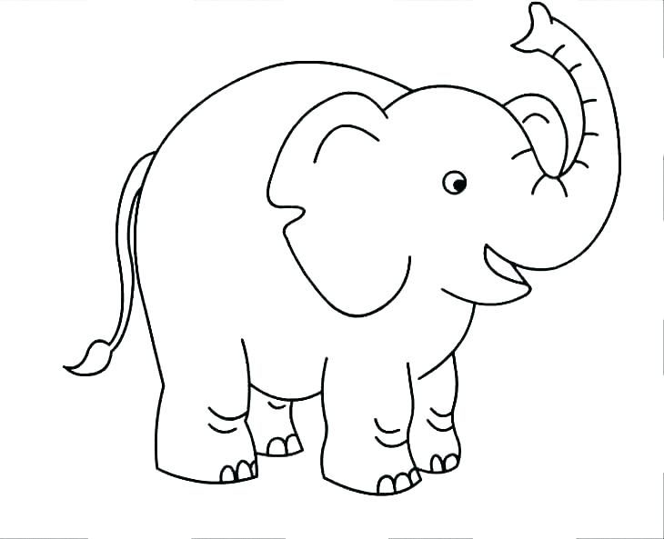 Easy Elephant Coloring Pages Ideas For Beginners Elephant