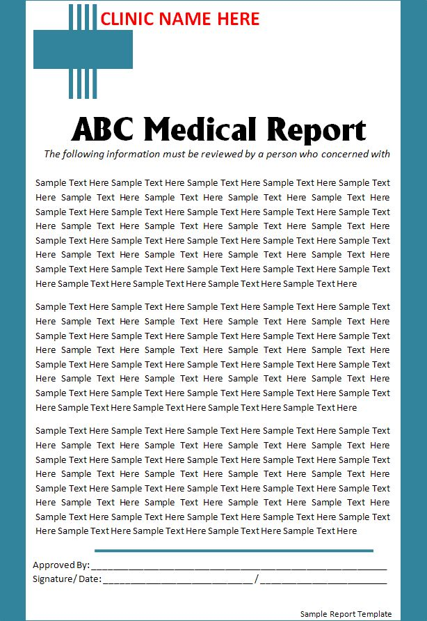 Medical Report Is A Document Prepared By A Doctor, Physician Or