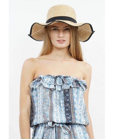 BLACK RIBBON STRAW HAT - MINEOLA Online Shopping Fashion Indonesia