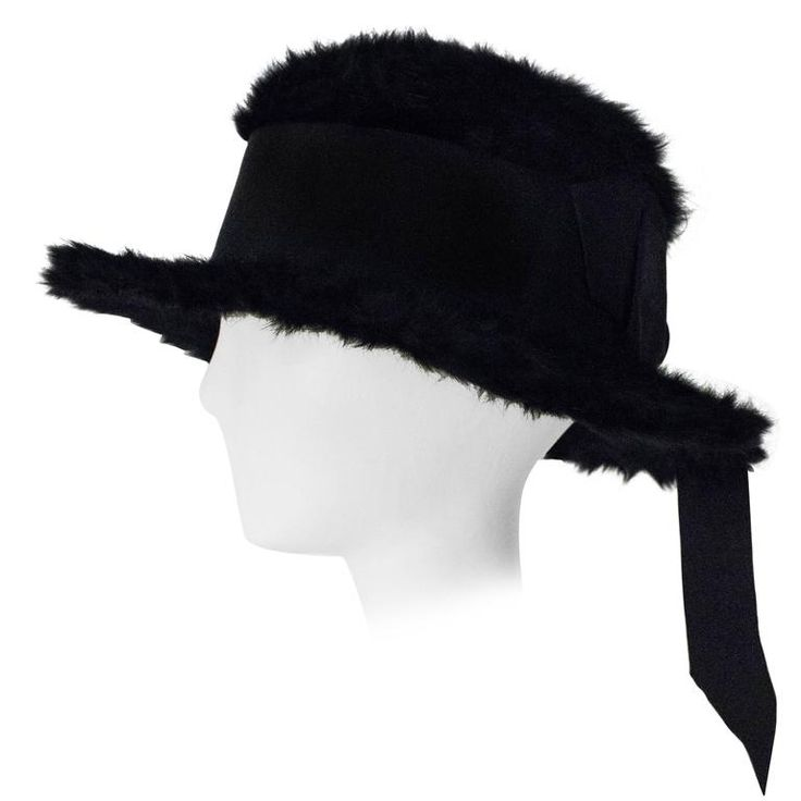 1900s Madge Evans Black Beaver Hat   From a collection of rare vintage hats at https://www.1stdibs.com/fashion/accessories/hats/