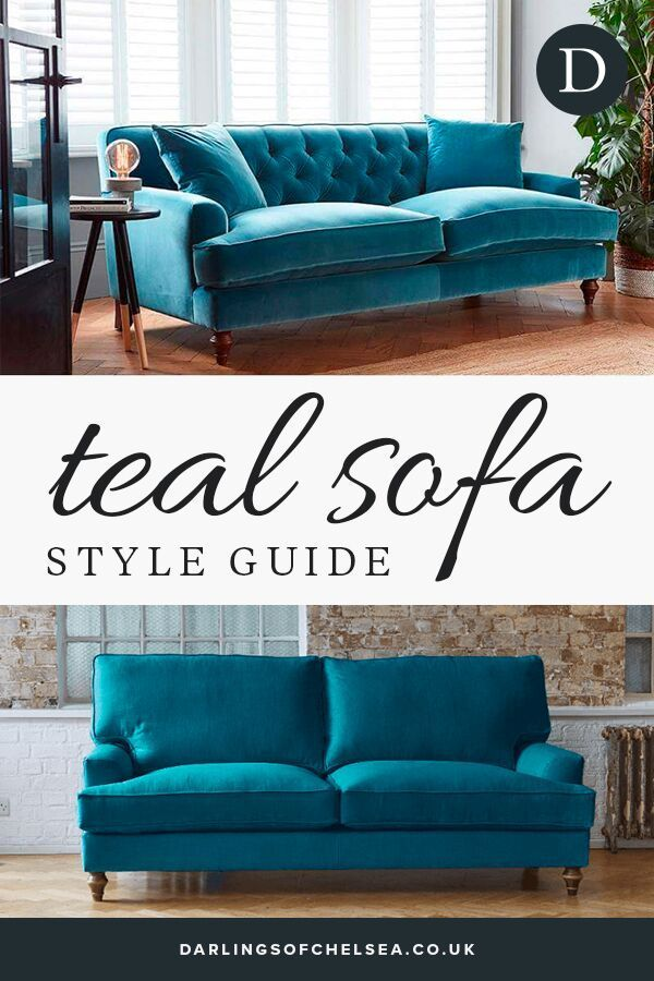 How To Decorate With A Teal Sofa Teal Sofa Living Room Teal