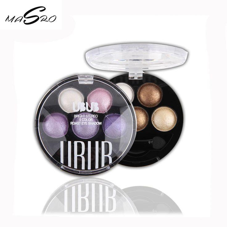 Masro Makeup Professional maquiagem Pigments glitter Eyeshadow 5 Colors Eye Shadow Palette paleta de sombras Beauty Brand UBUB #Affiliate