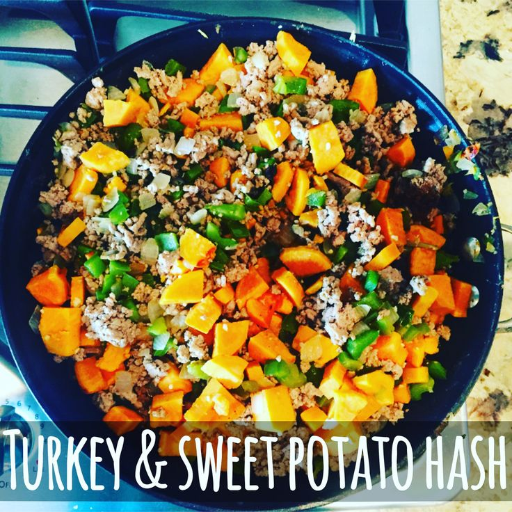 Comfort food and perfectly portioned to fit in your Country Heat and/or 21-Day Fix meal plan!   Turkey and Sweet Potato Hash - www.maeganblinka.com