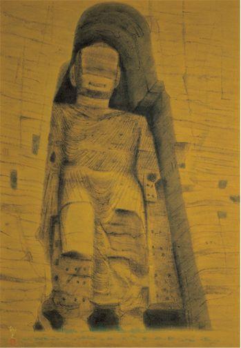 平山郁夫「バーミアンの大石仏」(1968)