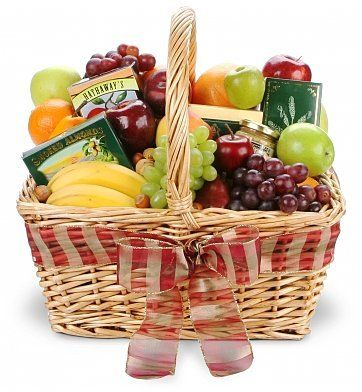 Delightful Fruit & Gourmet Basket - http://www.yourgourmetgifts.com/delightful-fruit-gourmet-basket/