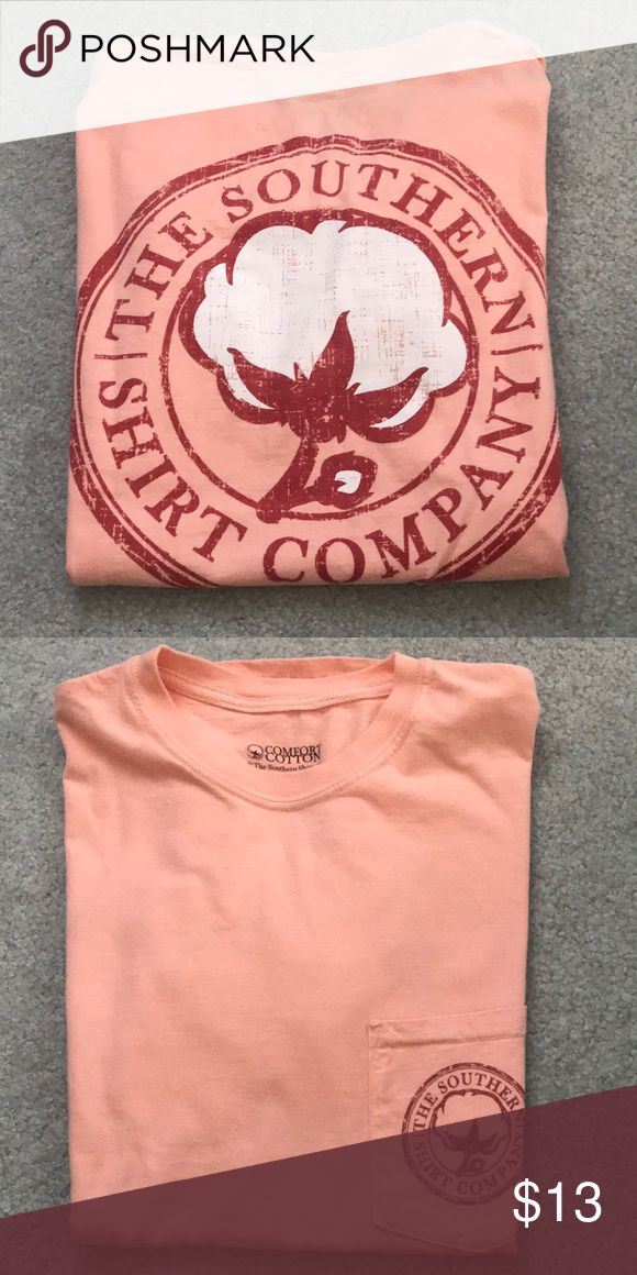 The Southern Shirt Company Pocket Tee The Southern Shirt Company Pocket T. Peach color. Worn only a few times. Like new! Size small The Southern Shirt Company Tops Tees - Short Sleeve