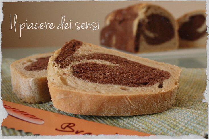 Pane bicolore al cacao