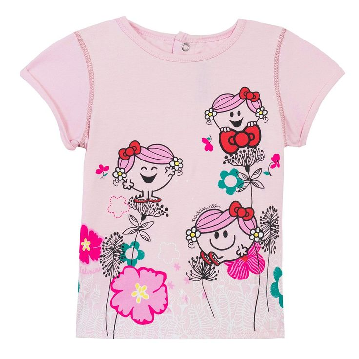 Little Miss Hug' T-shirt Rose Poudre Catimini