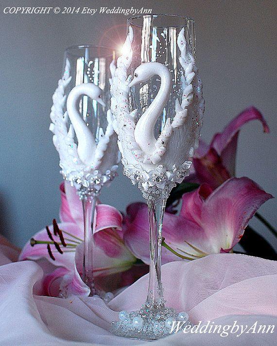 Nozze Champagne bicchieri, sposa Champagne flauti, occhiali da sposa, sposa e sposo - regalo di nozze personalizzata di flauti tostatura-