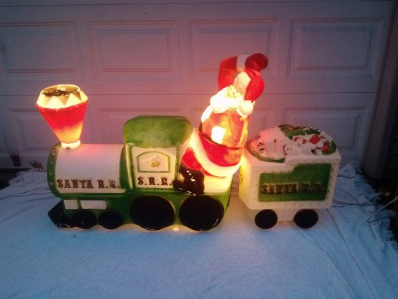 Vintage Empire Christmas Blow Mold Santa by JoaniesVintageGoods