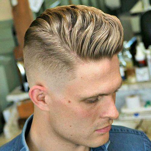 Wavy Brush Up with Bald Fade