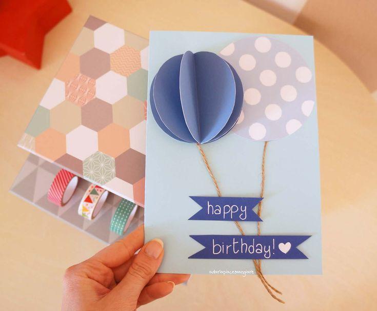 a daria piace mangiare • Biglietto di compleanno con printable da stampare