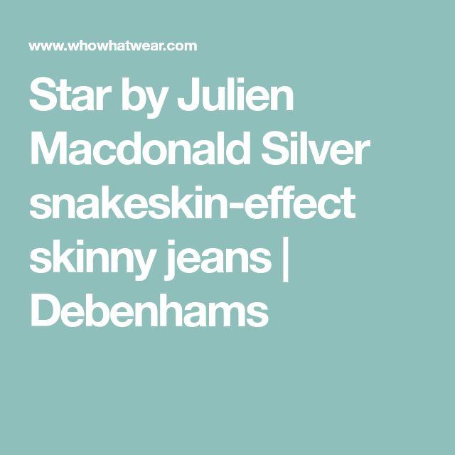 Star by Julien Macdonald Silver snakeskin-effect skinny jeans | Debenhams