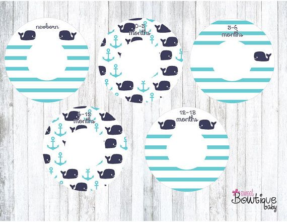 PBK Hamptons Whales closet dividers by SweetBowtiqueBaby on Etsy