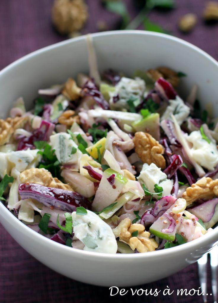 De vous à moi...: Salade de Chou Rouge, Fenouil, Pomme Verte et Gorgonzola