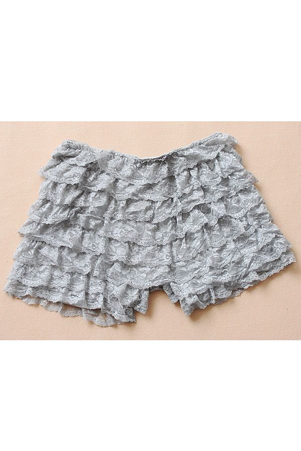 Elegant Eight-layer Lace Embellished Shorts OASAP.com