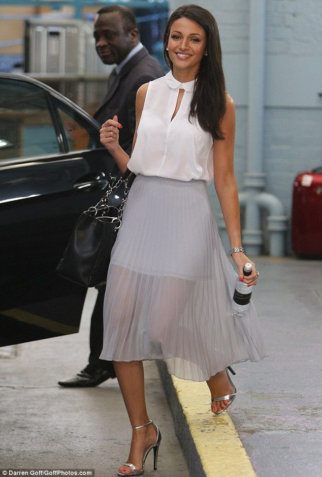 Always a winner: Michelle had appeared on This Morning earlier in the day with her Corrie costars in a chic sheer and pleated skirt. I don't normally like long pleated skirts but she looks absolutely stunning!