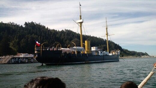 Huáscar, desde el Mar, Talcahuano
