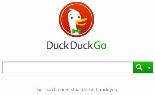 DuckDuckGo search - non-tracked, private searching with no Googlish spying.