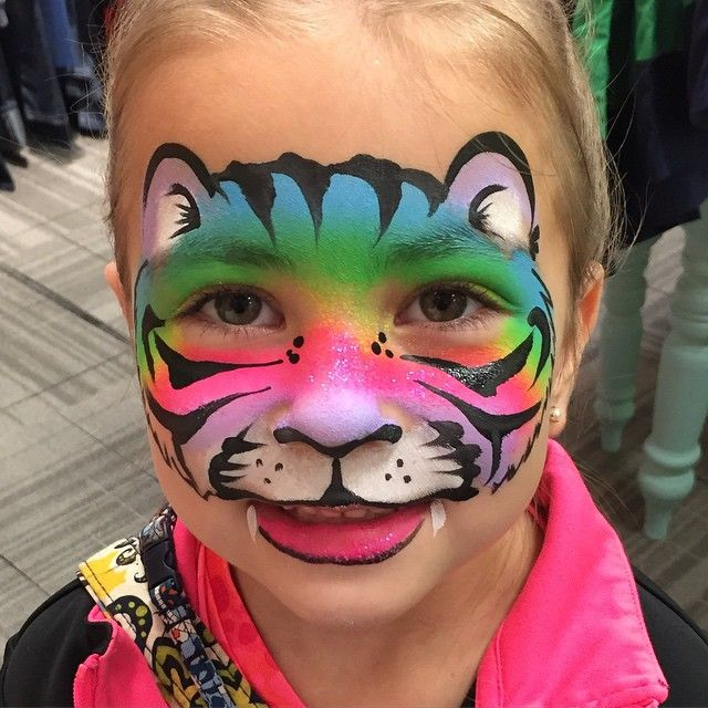 "22 Likes, 3 Comments - Mj@sisteractfacepainting.com Rainbow tiger  (@sister_act_face_painting) on Instagram: ""@kid_oh_halls #facepaint @hallskc #facepainting"""