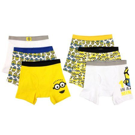 Despicable Me Boys Boxer Briefs, 5+1 Bonus Pack, Size: 4, Multicolor